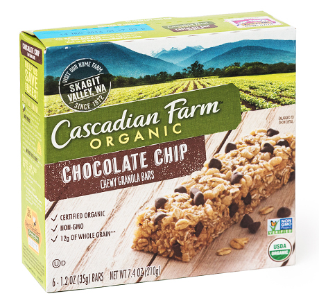 Cascadian Farm Organic Granola Bars - Chewy Chocolate Chip